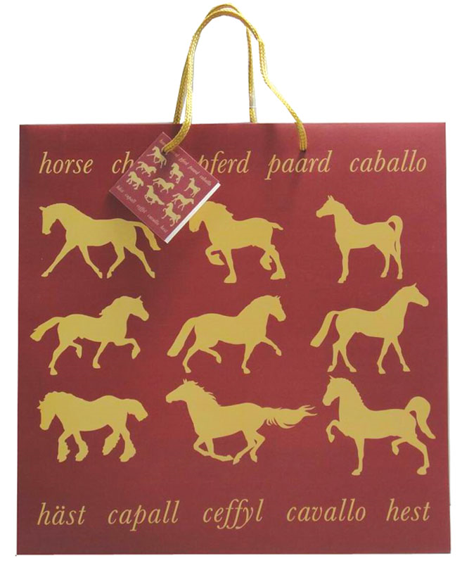 Maroon Horse Gift Bag Large