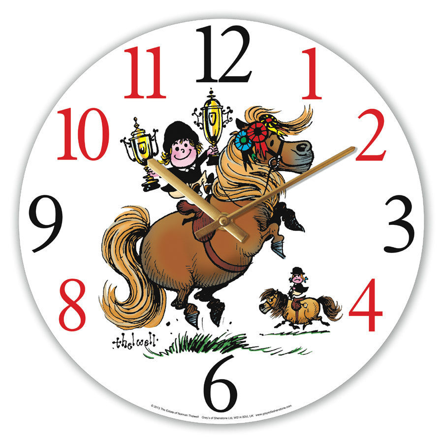 Thelwell Champion Glass Wall Clock