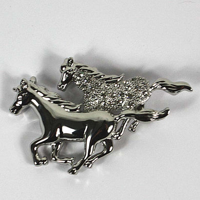Twin Horses Brooch