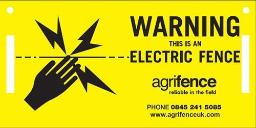 Agrifence Warning Signs