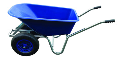 Dual Wheel Stable Barrow - 120 Litre Wheelbarrow