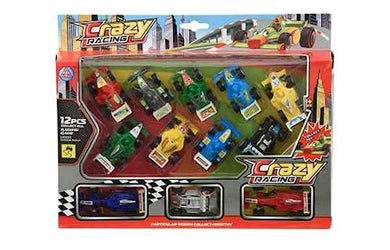 Set Of 12 Racing Cars