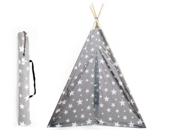 Grey And White Stars Tepee 160cm