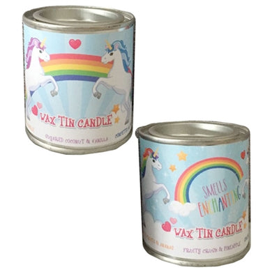 Unicorn Rainbow Soya Tin Candle