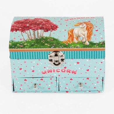 Unicorn Jewellery Box With 2 Drawers