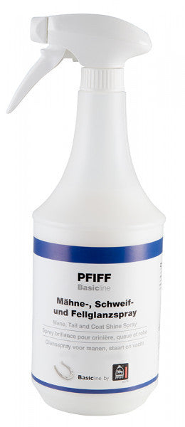 PFIFF Basicline Mane, tail and Coat Shine Spray.