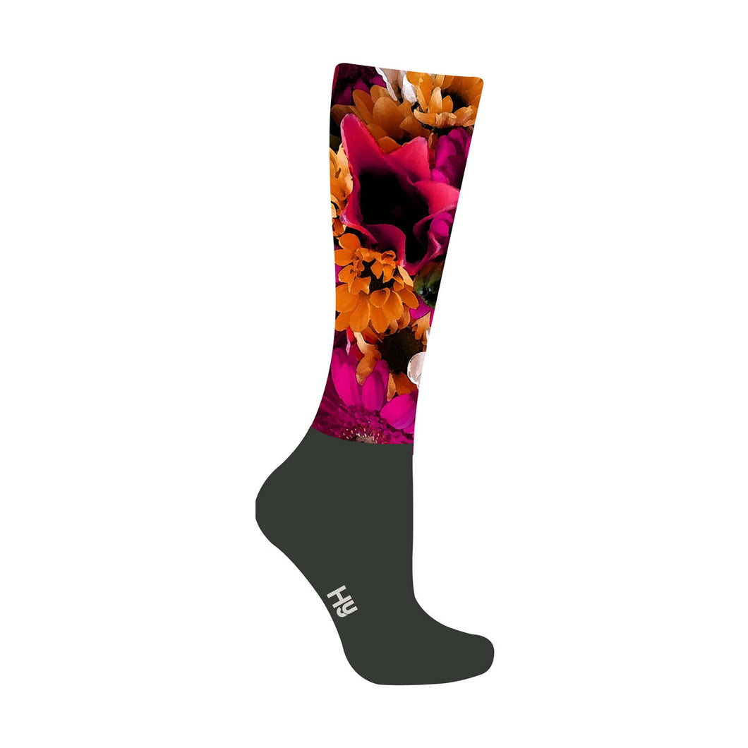 HyFASHION Flower Garden Pattern Riding Socks