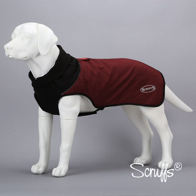 Scruffs Thermal Quilted Dog Coat Burgundy