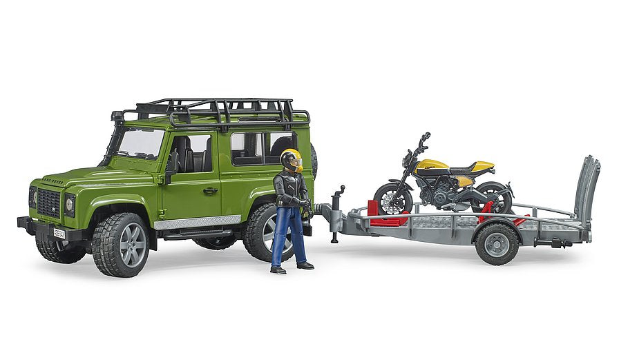 Land Rover Defender+Scrambler Ducati Full Throttle