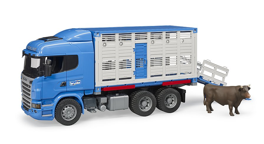 Scania R-Series livestock transporter with one cow