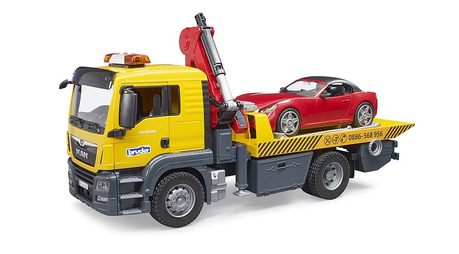 MAN TGS tow truck with roadster