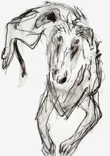 Load image into Gallery viewer, good boy, lurcher - card & print