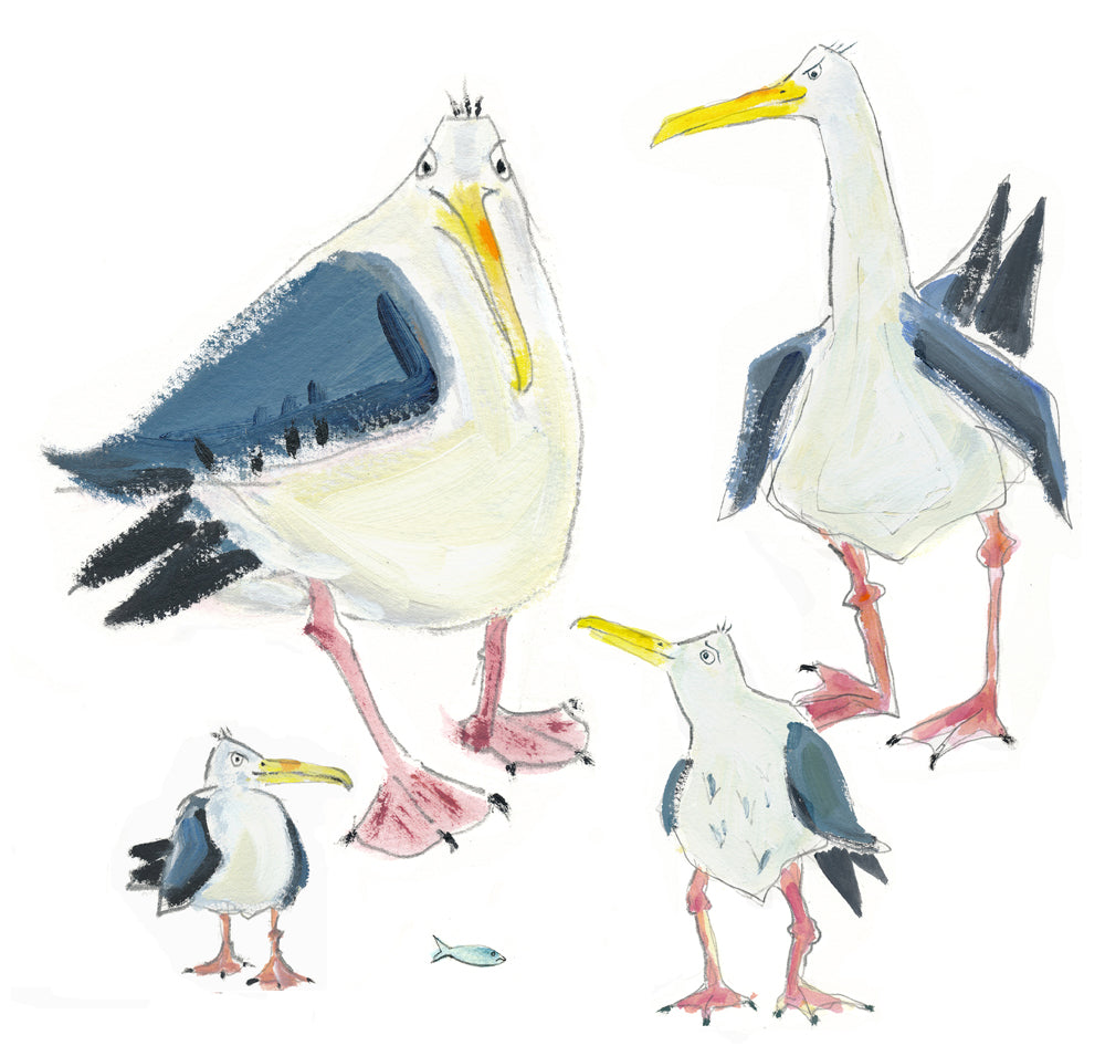 gull family - card & print