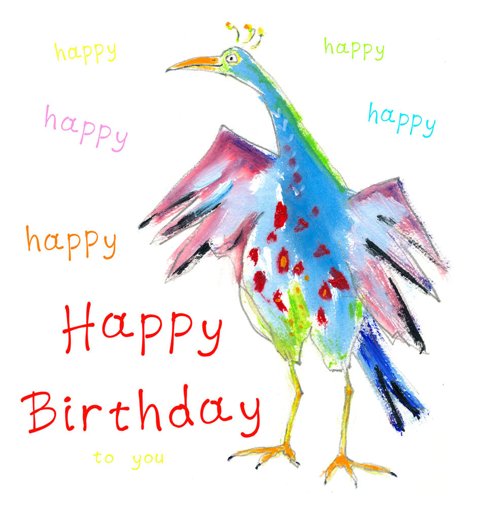 happy bird - print & card