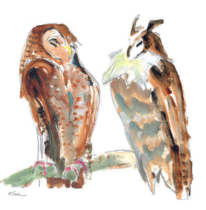 two owls - card & print
