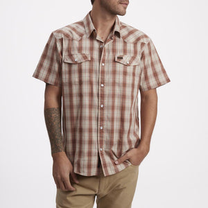 H BAR B Snapshirt - Neches Plaid - Red Clay