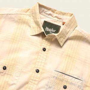 Aransas Shirt: Big Pane Plaid- Vintage Yellow