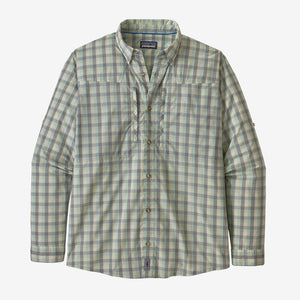L/S Sun Stretch Shirt: Gulf Coast- Gypsum Green