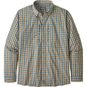 L/S Sun Stretch Shirt: Watershed- Smolder Blue