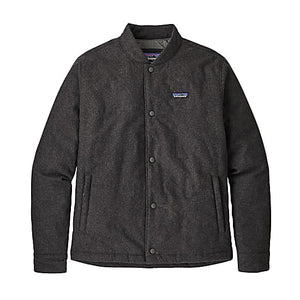 Recycled Wool Bomber Jacket- Forge Gray