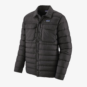 Silent Down Shirt Jacket- Black