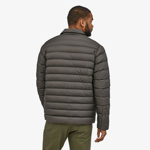 Silent Down Shirt Jacket- Forge Grey