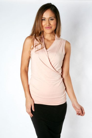 Grace Bamboo Maternity Top - Blush