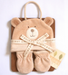 Natures Purest - Hug Me Bear Baby Hat & Mittens