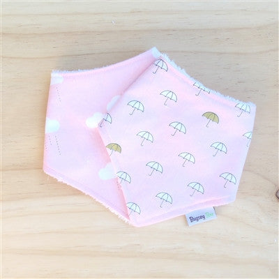 Pink Clouds Dribble Bib - Bugseybee