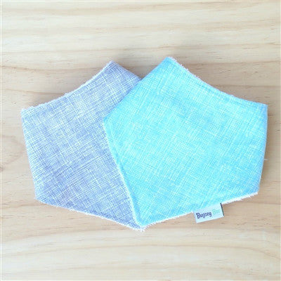 Grey Crosshatch Dribble Bib - Bugseybee