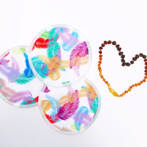 Feather Confetti - Reusable bamboo nursing pads
