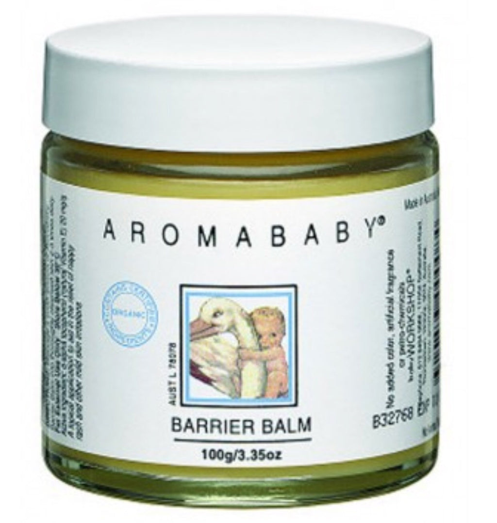 Aromababy Barrier Nappy Rash Cream Balm - Lip Balm Travel Size