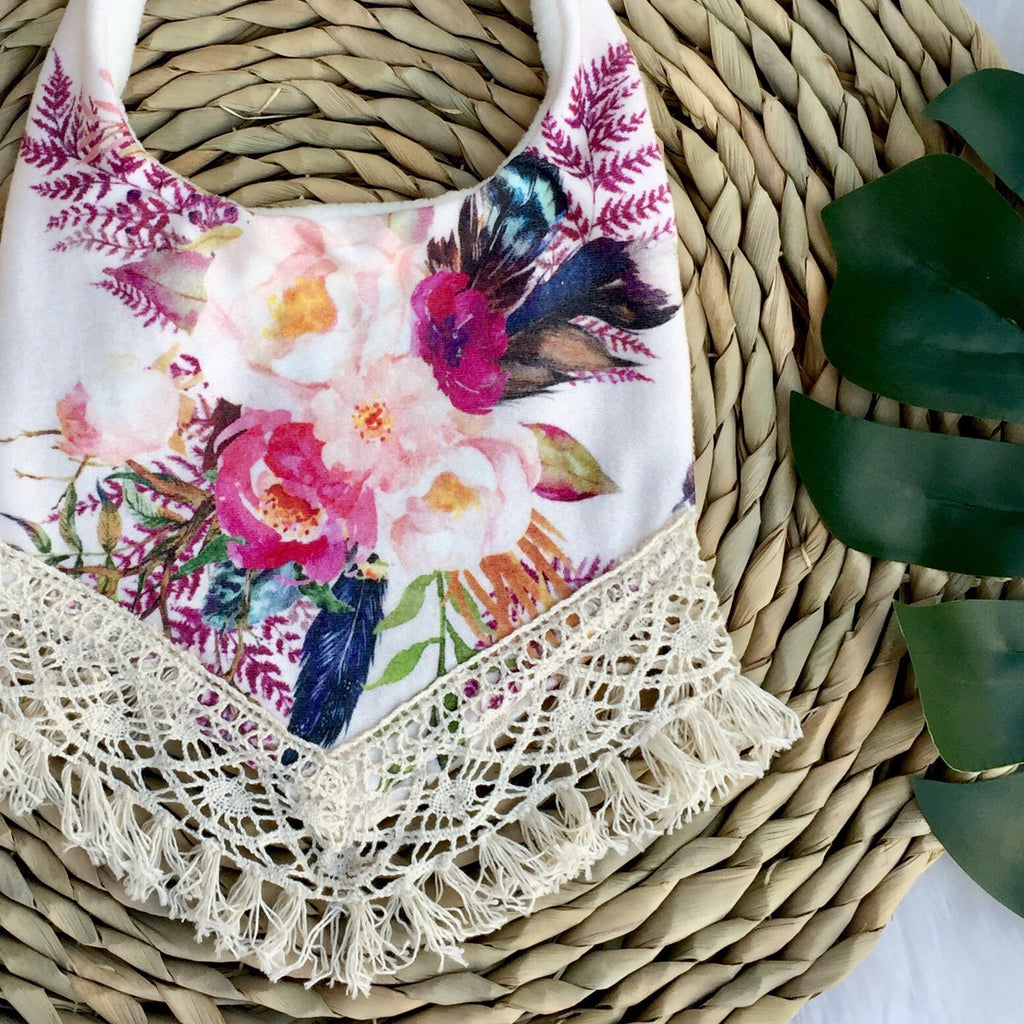 Lucy Organic Cotton Boho Bib - Crybaby Boutique