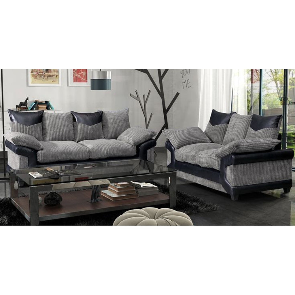 Cheap black fabric sofa sets hereo sofa for Affordable furniture uk