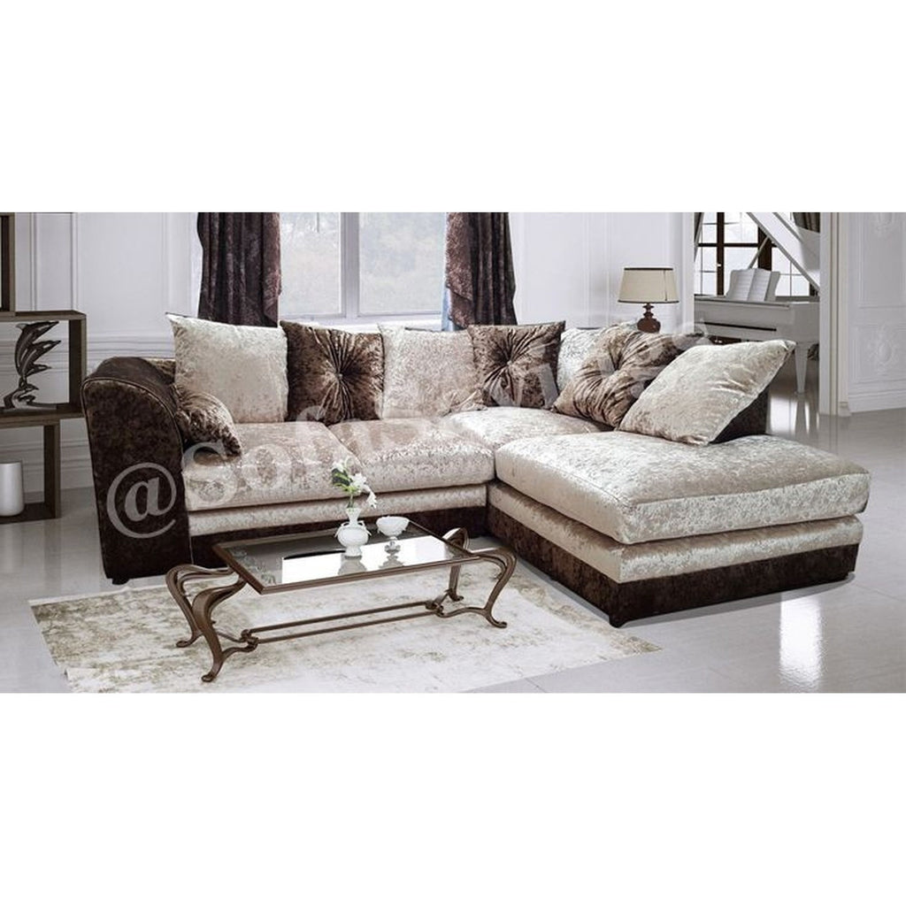 Cheap sofa uk crystal crushed velvet brown mink corner sofa cheap sofas online crystal crushed velvet brown mink corner sofa cheap sofa uk parisarafo Image collections