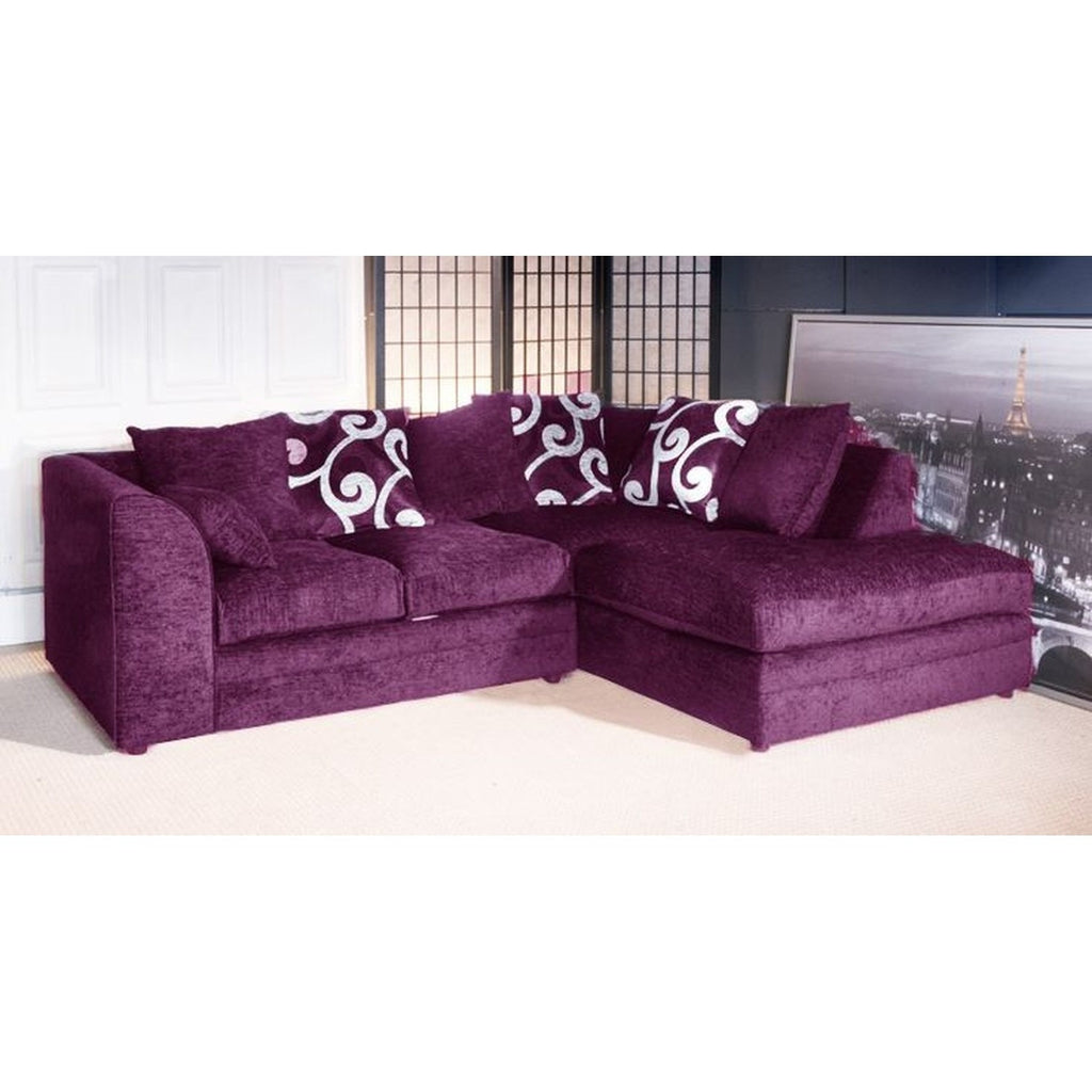 Cheap purple corner sofas mjob blog for Affordable furniture uk