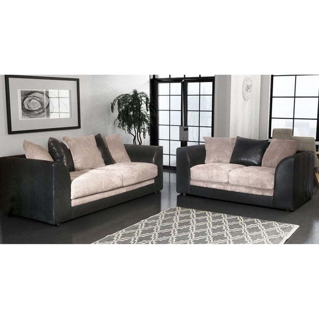 Sofa sets online uk refil sofa for Leather and fabric living room sets