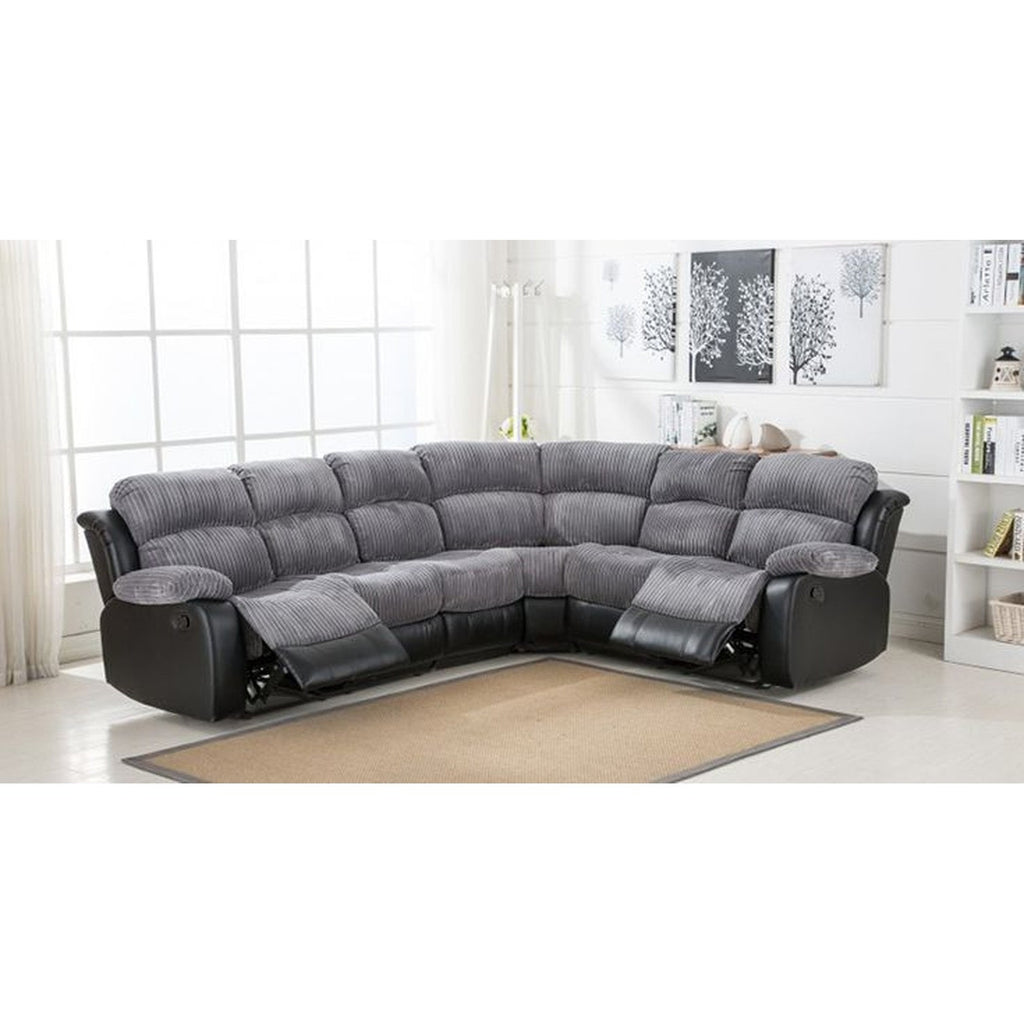 Cheap Sofas Online, Cambridge Grey Fabric Reclining Corner Sofa Collecton - Cheap  Sofa UK