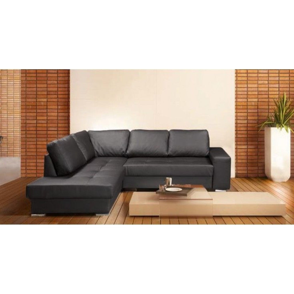 Black leather corner sofa uk refil sofa for Black corner sofa