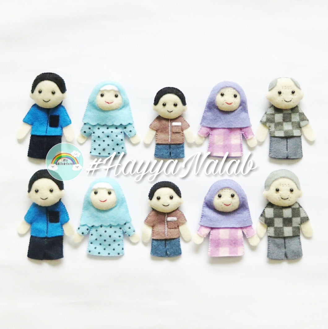 Family Finger Puppets