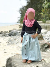 Light Denim Maxi Skirt