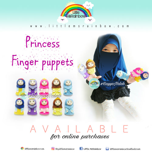 Muslimah Princesses Finger Puppets