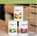 Daily Super Greens 9.5 oz (ready-to-mix green powder that can help you detox, cleanse your body, and have you feeling your best every day) (Peach Persuasion)