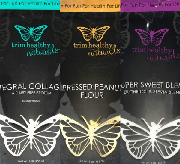 Super Kit Trim Healthy Mama ( Super Sweet Blend 1lb, Pressed Peanut Flour 1lb, Integral Collagen 1lb)