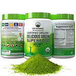 Peak Performance Organic Greens Superfood Powder. Best Tasting Organic Green Juice Super Food with 25+ All Natural Ingredients for Max Energy & Detox. Spirulina, Spinach, Kale, Turmeric Probiotics