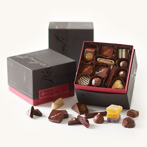 Recchiuti Burgundy Box - Wirecutter gift pick best chocolate box
