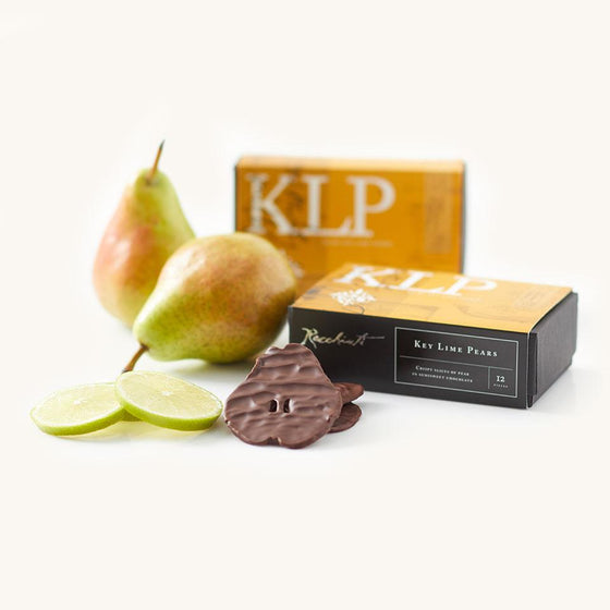 Recchiuti Confections, Chocolate Covered Fruits, Key Lime Pears