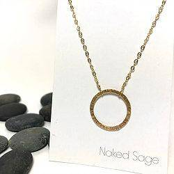 Gold/Silver New Moon Necklace by Naked Sage