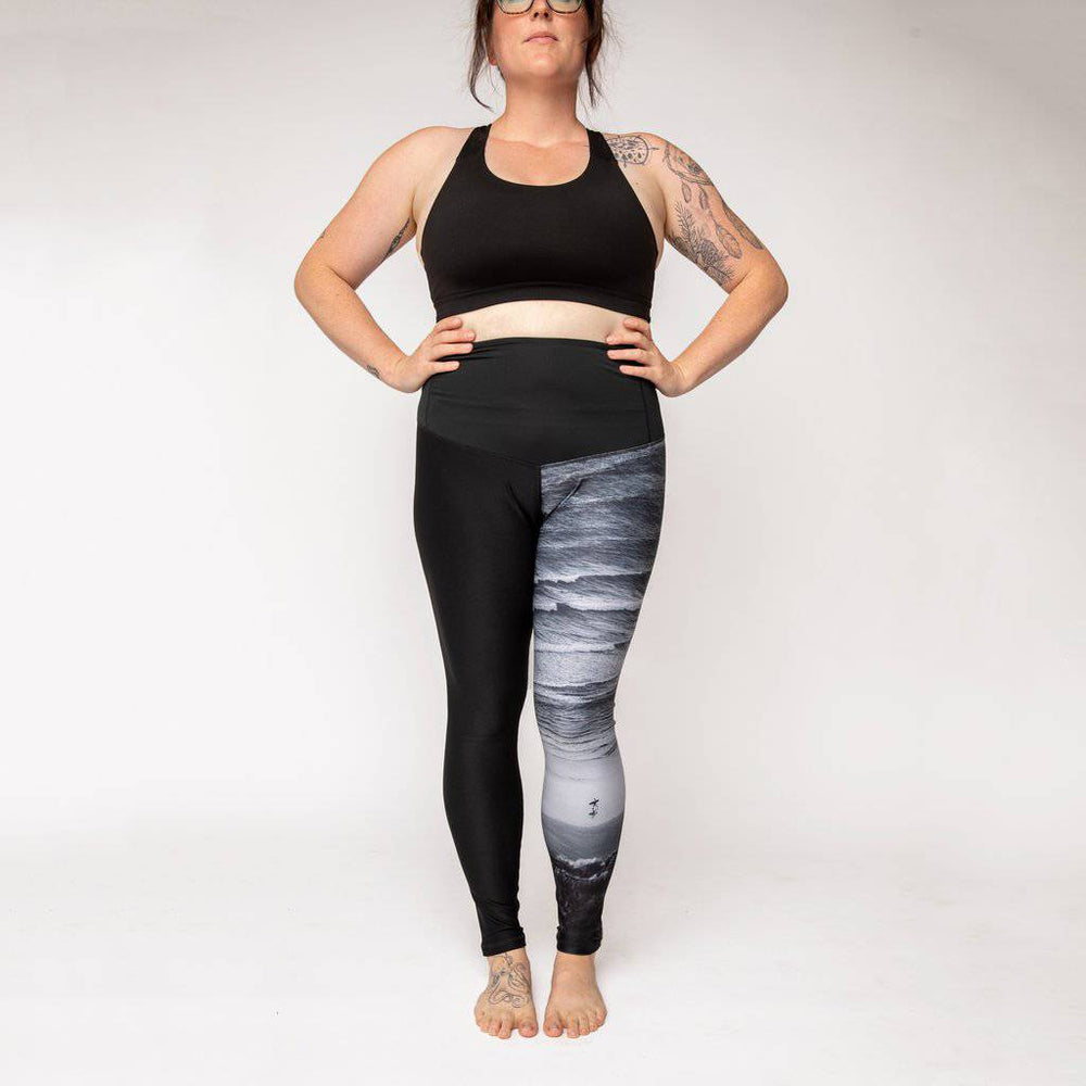 "BeWildHer Athletic Tights - ""The Surf Vista"" Run Wild Tights"
