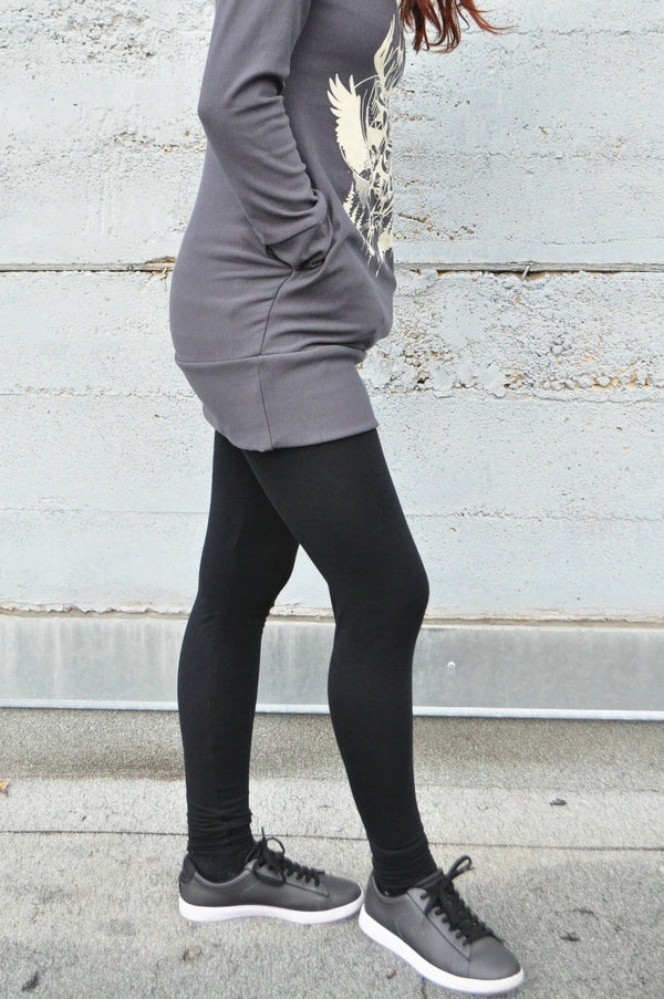 Bamboo High-Waisted Jersey Leggings - West Coast Mamas